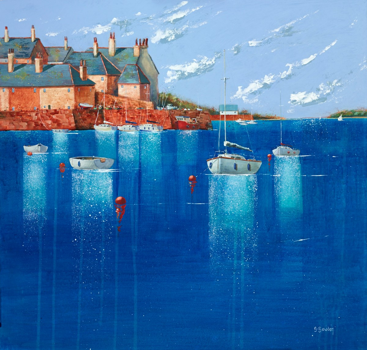 Onshore Breeze  by steve bowden - Original on Board sized 24x24 inches. Available from Whitewall Galleries